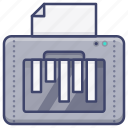 machine, paper, shredder icon