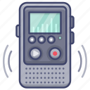 recorder, microphone, voice, electronic icon