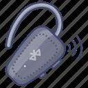 bluetooth, earphone, handsfree, wireless icon