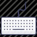 computer, hardware, keyboard, type icon