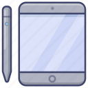 tablet, ipad, device, electronic icon