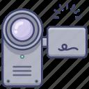 camcorder, camera, film, video icon