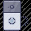 camera, doorbell, electronic, smart icon
