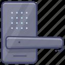 door, electronic, lock, smart icon