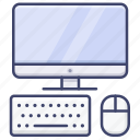 computer, mouse, display, keyboard icon