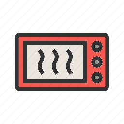 equipment, microwave, modern, oven, steel, technology icon