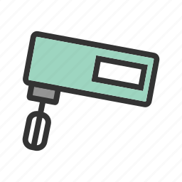 appliance, electric, food, kitchen, mixer, modern, steel icon