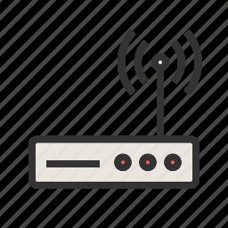 antenna, internet, modem, router, wi-fi, wifi, wireless icon