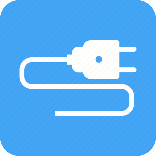 cable, electric, electrical, electricity, outlet, plug, power icon