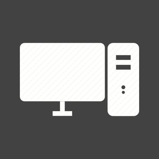 cloud, communication, computer, desktop, monitor, screen, technology icon
