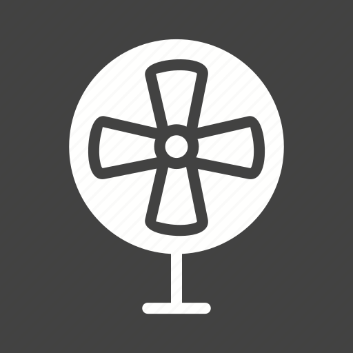 air, blade, electric, fan, table, ventilator, wind icon