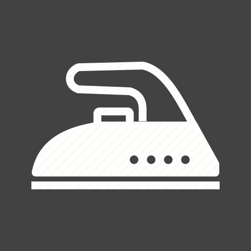 appliance, domestic, electric, iron, ironing, steam, work icon