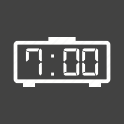 clock, digital, display, electronic, led, number, time icon