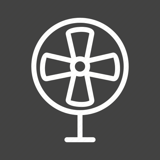 air, blade, electric, fan, table, ventilator, wind icon