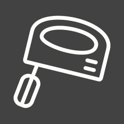 appliance, electric, food, kitchen, mixer, modern, steel icon