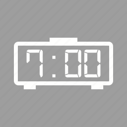 clock, digital, electronic, led, number, time icon