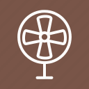 electric, blade, air, fan, ventilator, table, wind