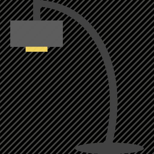 desk lamp, lamp, light, work lamp icon