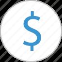 coin, dollar, interest, money, revenue, sign, wealth icon