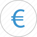 coin, euro, graph, interest, money, sign icon