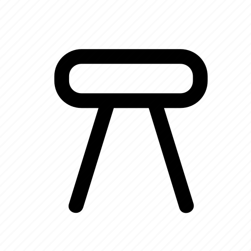 chair, furniture, home, interior, seat, stool icon