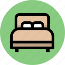 bed, furniture, home, hotel, interior icon