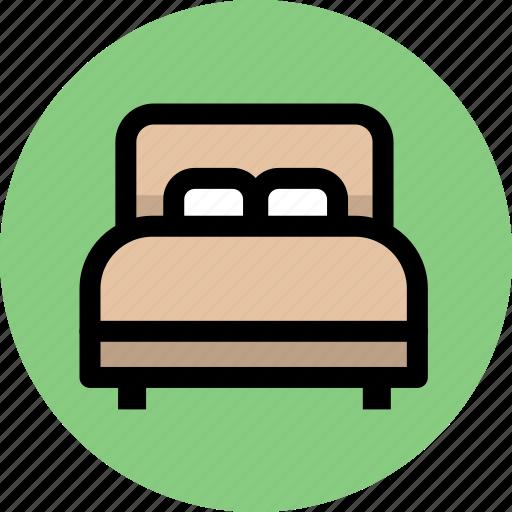 bed, furniture, home, hotel, interior icon