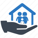 care, family, insurance, life insurance, security icon