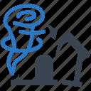 home, house, hurricane, tornado, windstorm insurance icon