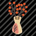 amphora, ancient, flower, isometric, logo, object, vase