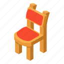 armchair, chair, high, isometric, logo, object, stool
