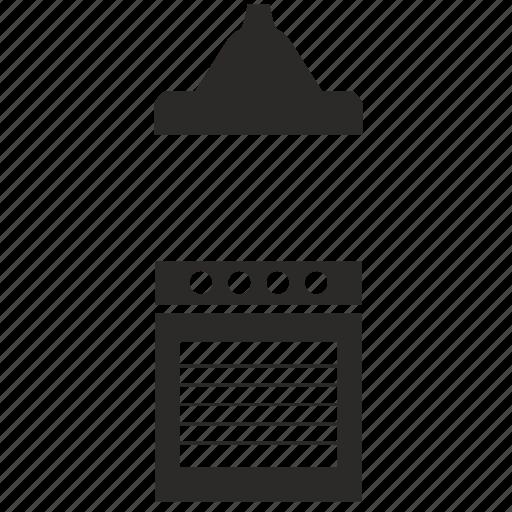 extractor, hood, kitchen, stove icon
