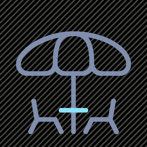 Chairs, garden, home, interior, outdoor, patio, umbrella icon - Download on Iconfinder