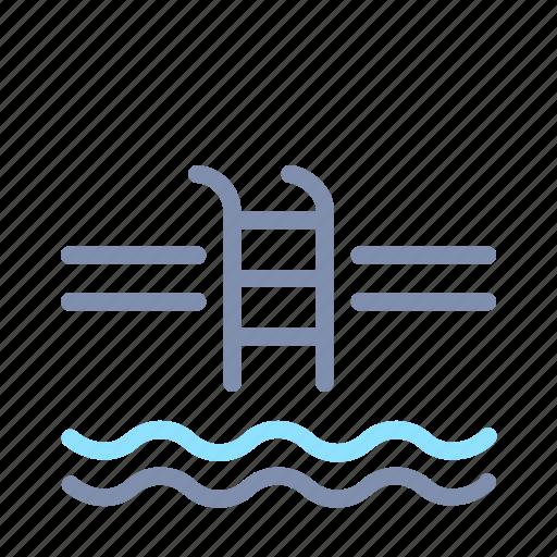 home, house, interior, pool, property, swim, swimming icon