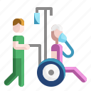 disabled, hospital, infectious, medicine, patient, treatment, wheelchair
