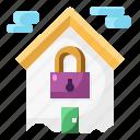 architecture, home, house, lockdown, padlock, quarantine, secutiry