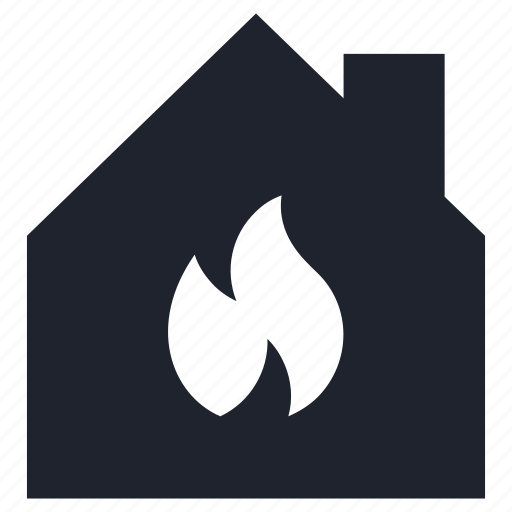 fire, flame, gas, gasification, house, renovation, warming icon