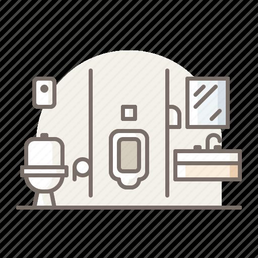 bathroom, restroom, urinal icon