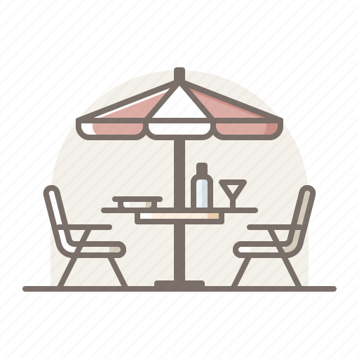 dinning, outdoor, room, terrace icon