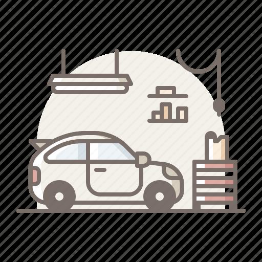 car, garage, workshop icon