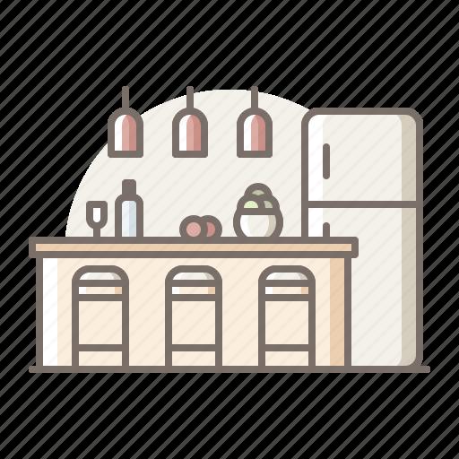 bar, kitchen, refrigerator icon