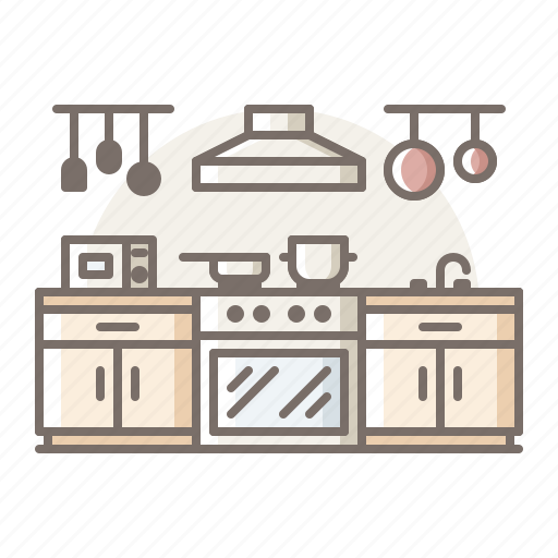 kitchen, oven, suction icon