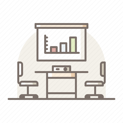 meeting, office, room icon
