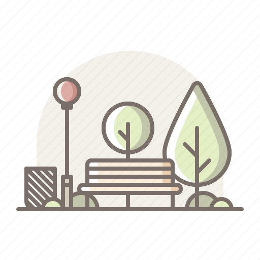 bench, chair, park icon