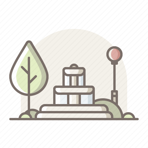 Awter, fountain, park icon - Download on Iconfinder