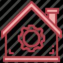 settings, gear, house, property, home, repair