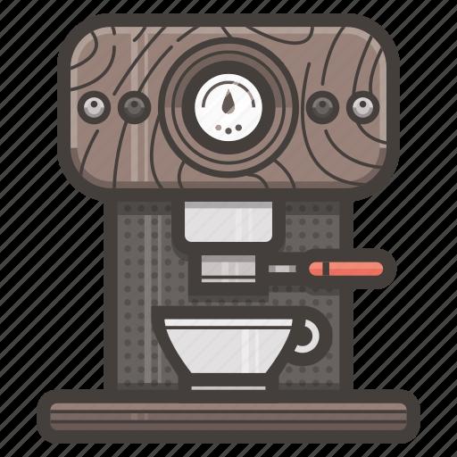 coffee, espresso, italian, machine icon