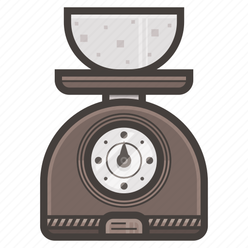 kitchen, scale, tool, weight icon