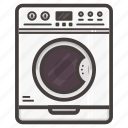 clothing, machine, washing icon