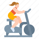bicycle, exercise, home, indoor, workout icon
